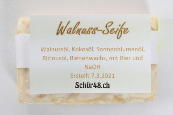 Schür48 Walnuss-Seife als Haarshampoo oder für die Körperpflege